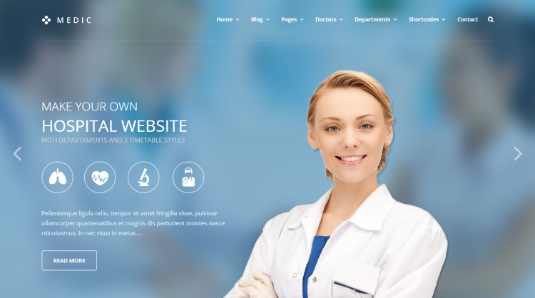 Medic Medical WordPress Theme