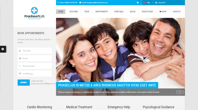 PharmaPlus WordPress Theme