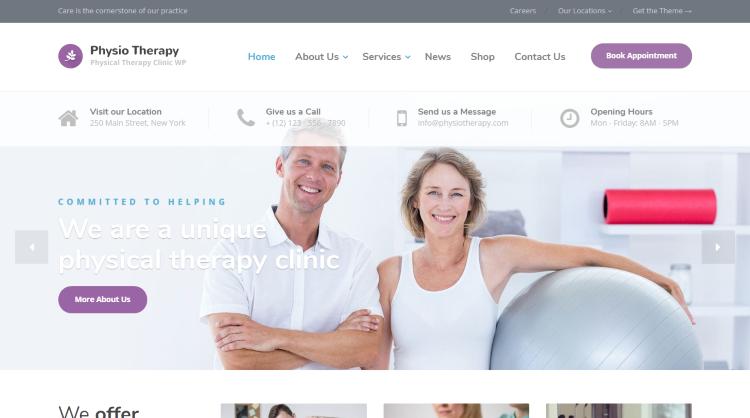 Physio Medical WordPress Theme