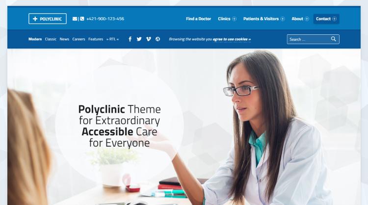Polyclinic Medical WordPress Theme