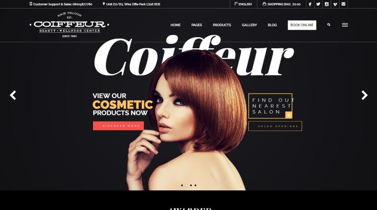 Coiffeur Hair Salon WordPress Theme