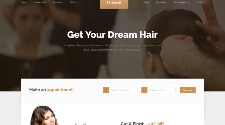 Frisieur WordPress Theme for Hair Salons
