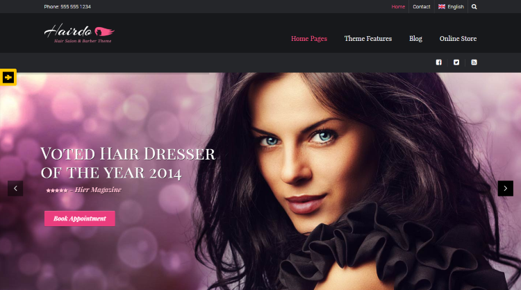 Hairdo Hair Salon WordPress Theme