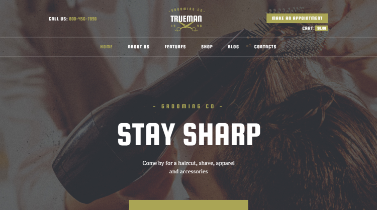 Trueman Hair Salon and Barber WordPress Theme