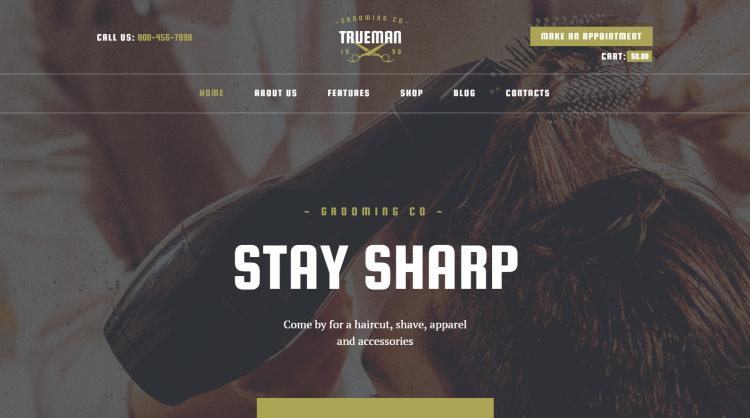 Trueman Hair Salon and Barber WordPress Theme