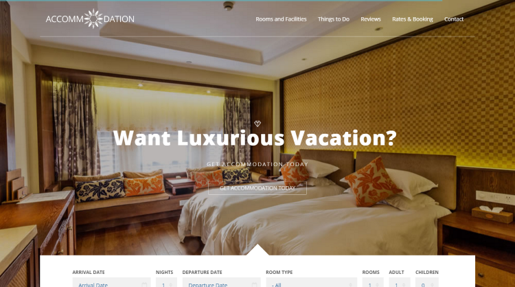 Accommodation Hotel Booking WordPress Theme