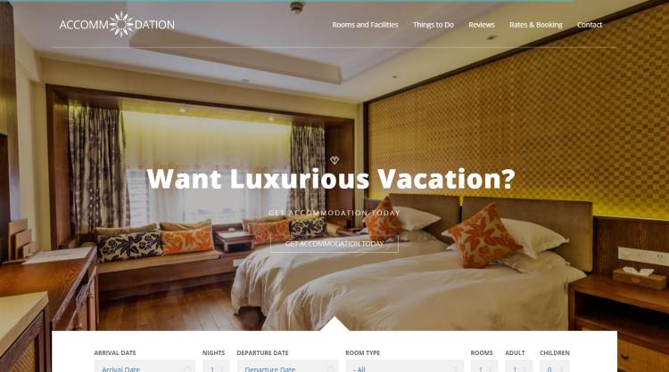 Accommodation Hotel Booking WordPress Theme