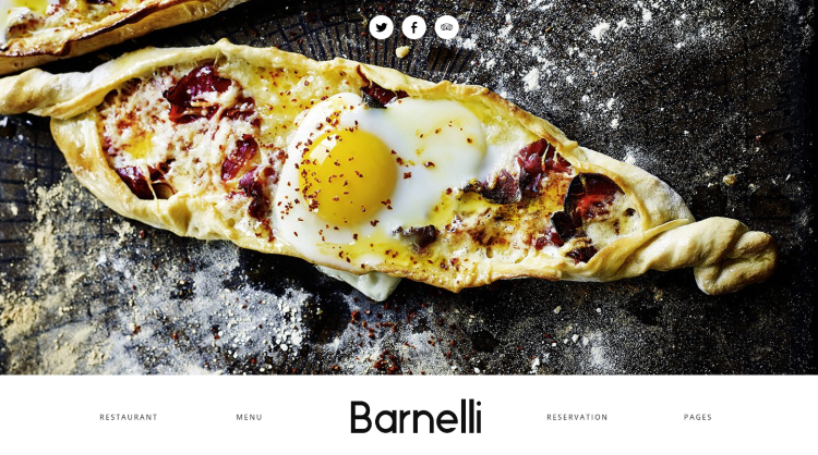 Barnelli Restaurant WordPress Theme