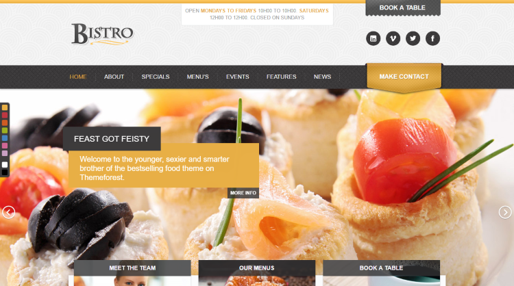 Bistro Restaurant WordPress Theme