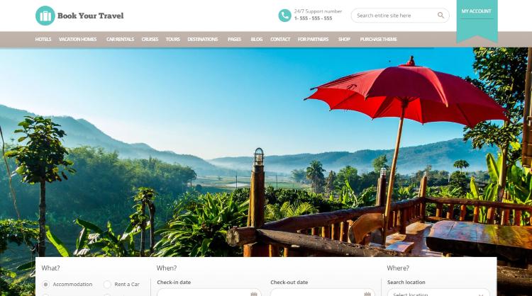 Book Your Travel Booking WordPress Theme