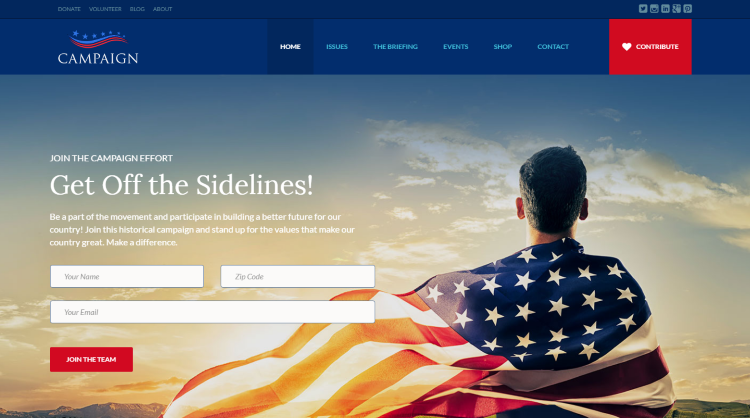 Campaign Political WordPress Theme