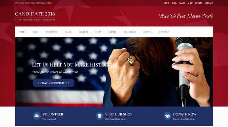 Candidate Political WordPress Theme