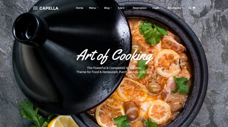 Capella Restaurant WordPress Theme