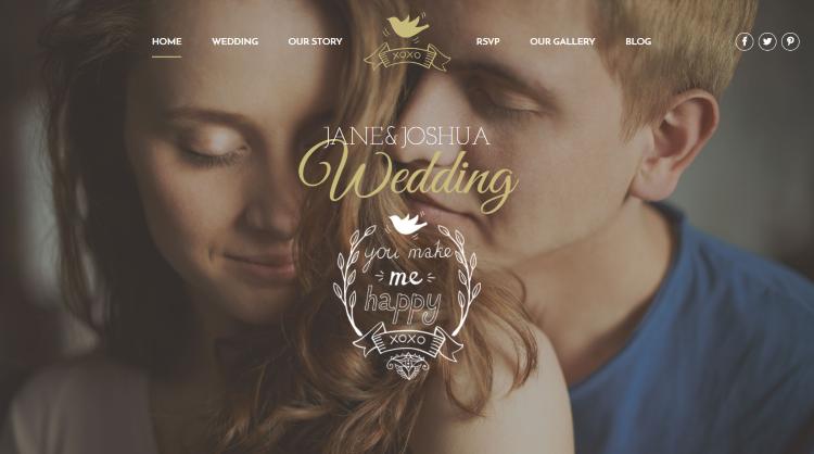 Celebration Wedding WordPress Theme