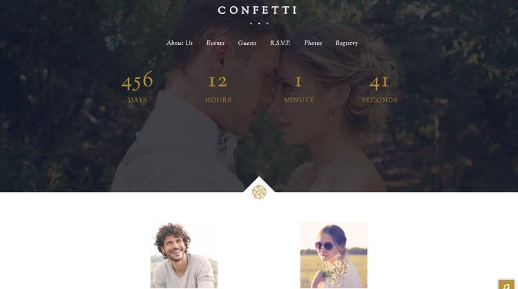 Confetti Wedding WordPress Theme