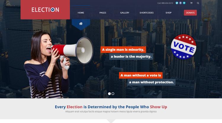 Election Political WordPress Theme
