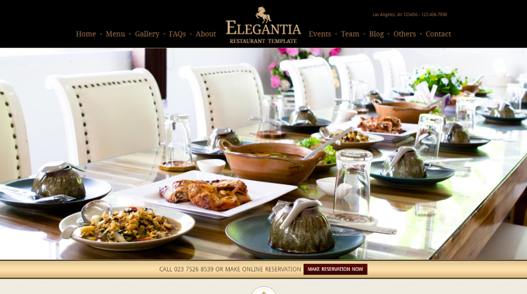 Elegantia Restaurant WordPress Theme