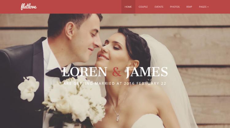 Flatlove Wedding WordPress Theme