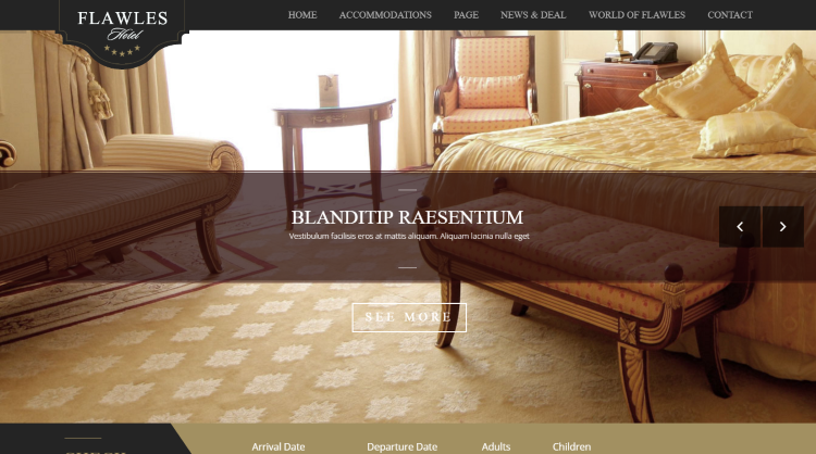 Flawleshotel Hotel Booking WordPress Theme