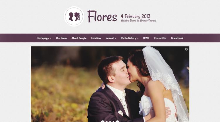 Flores Wedding WordPress Theme