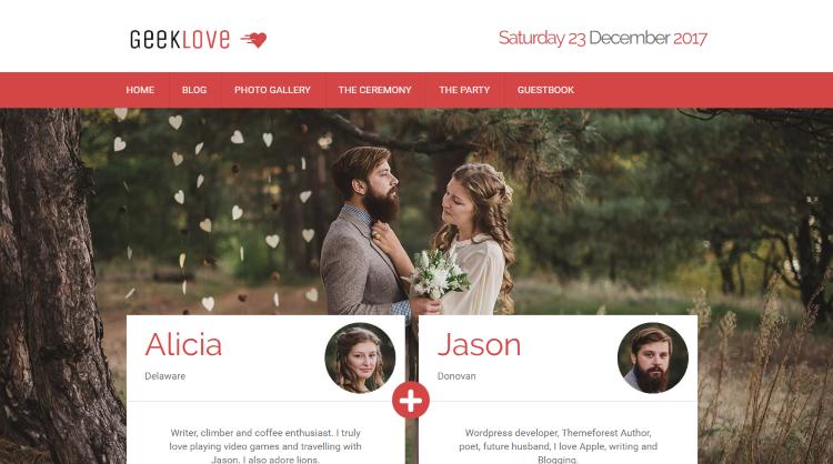 Geeklove Wedding WordPress Theme