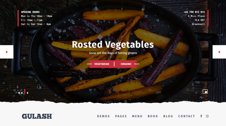 Gulash Restaurant WordPress Theme