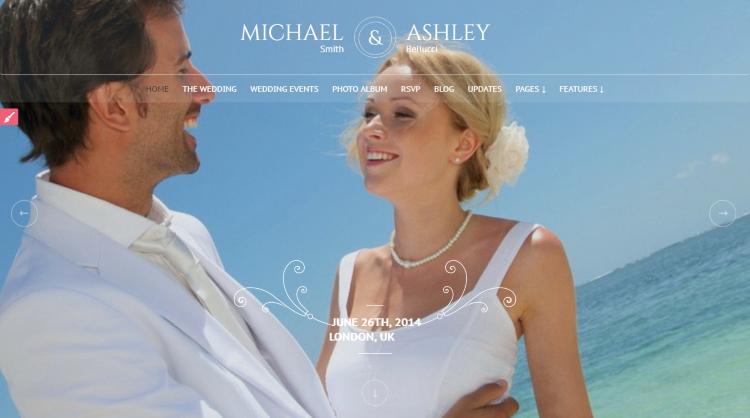 Honeymoon and Wedding WordPress Theme