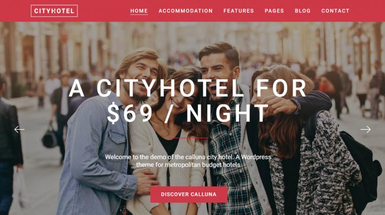 Hotel Calluna Hotel Booking WordPress Theme