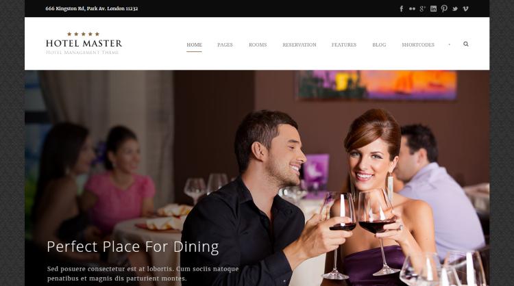 Hotel Master Hotel Booking WordPress Theme