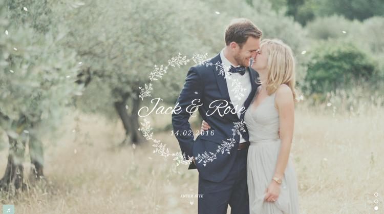 Jack and Rose Wedding WordPress Theme