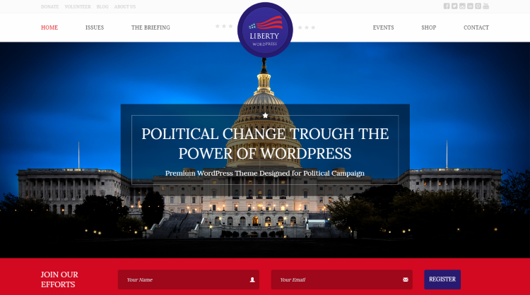 Liberty Political WordPress Theme