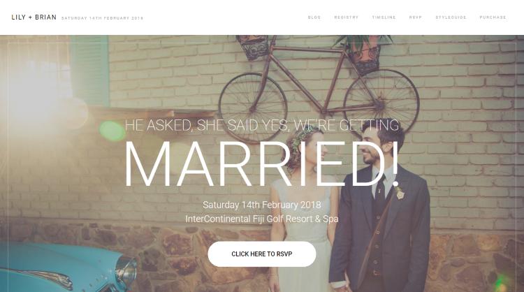 Lily Wedding WordPress Theme