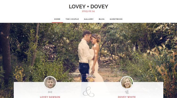 Lovey Dovey Wedding WordPress Theme