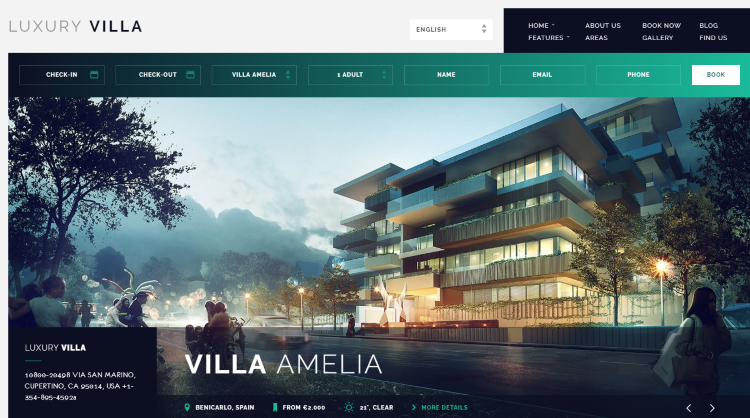 Luxury Villa Booking WordPress Theme