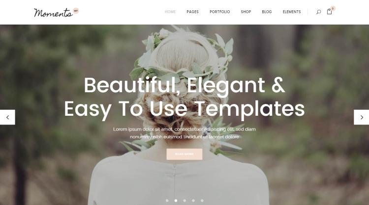 Moments Wedding WordPress Theme