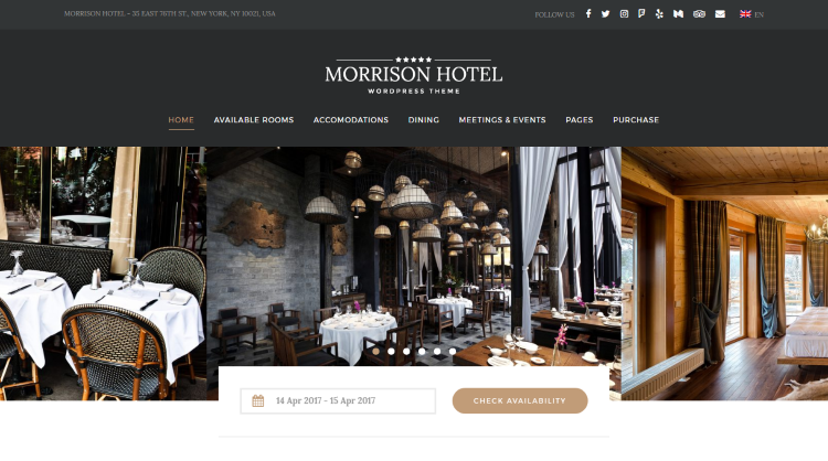 20 Best Hotel and Travel Booking WordPress Themes 2017