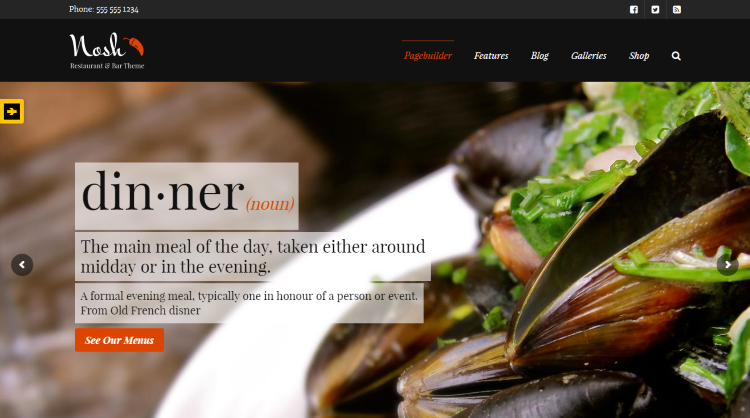 Nosh Restaurant WordPress Theme