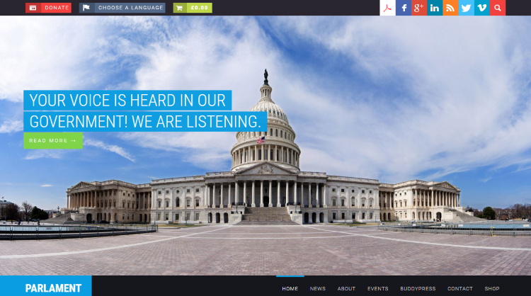 Parlament Political WordPress Theme