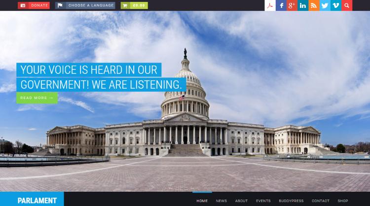 Parlament Political WordPress Theme