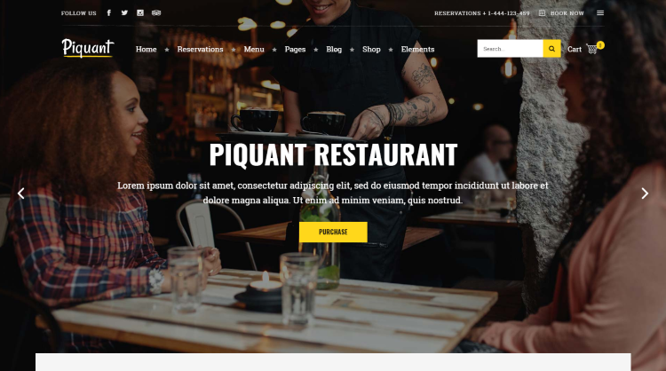 Piquant Restaurant WordPress Theme