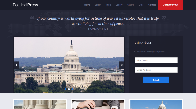 Political Press Political WordPress Theme