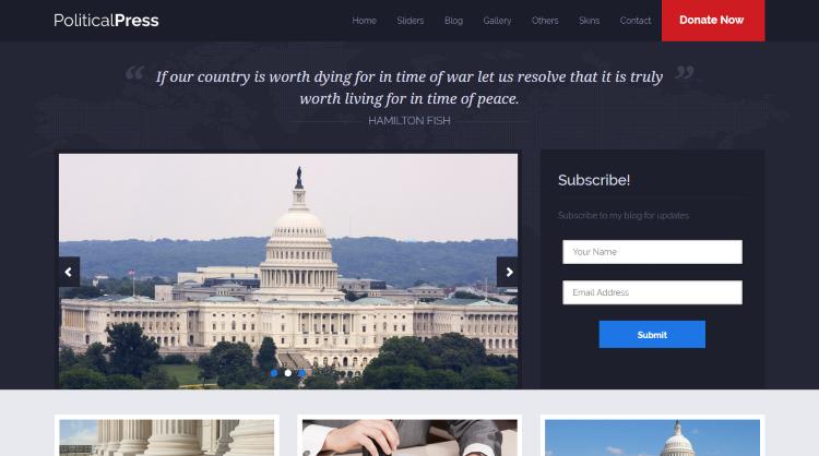 Political Press Political WordPress Theme