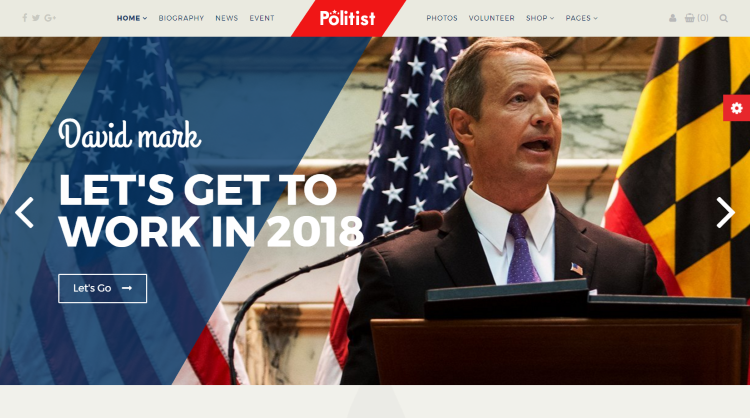 Politist Political WordPress Theme