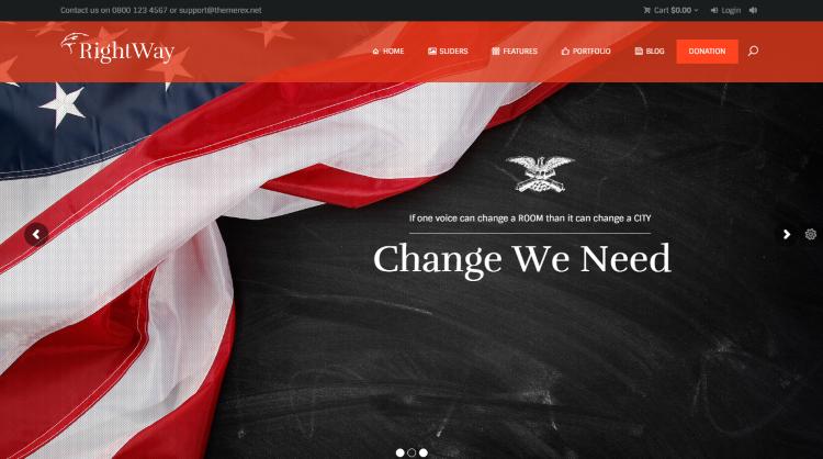 RightWay Political WordPress Theme