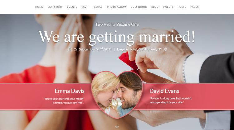 SayYes Wedding WordPress Theme