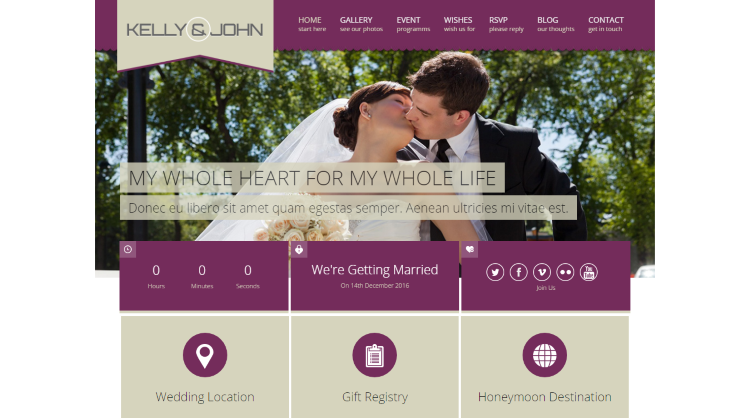 Soul Wedding WordPress Theme