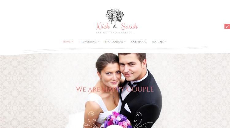 The Wedding Day Wedding WordPress Theme