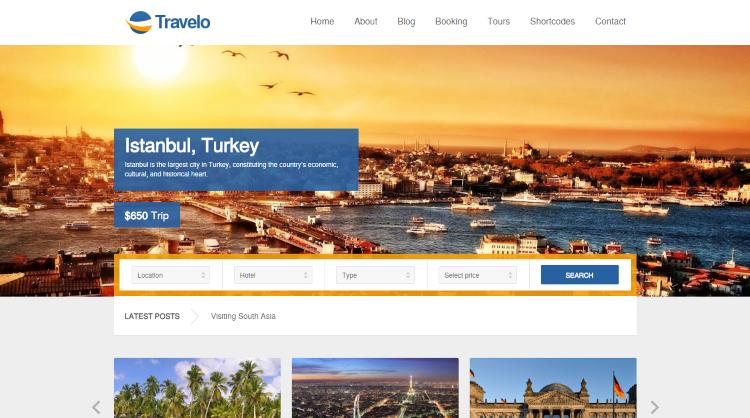 Travelo Booking WordPress Theme