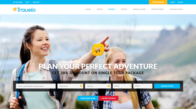 Travelo Travel Booking WordPress Theme