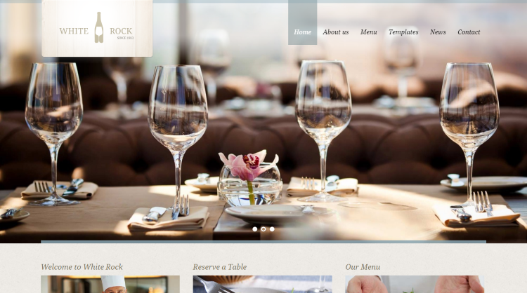 White Rock Restaurant WordPress Theme